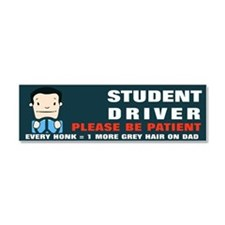 Male Student Driver: Dad Car Magnet 10 X 3
