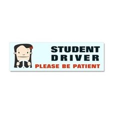 Female Student Driver Car Magnet 10 X 3