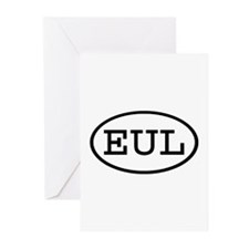 EUL Oval Greeting Cards (Pk of 10)