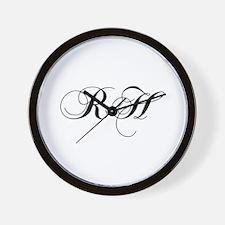 RH-cho black Wall Clock