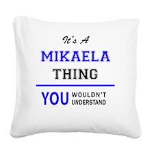 Cute Mikaela Square Canvas Pillow