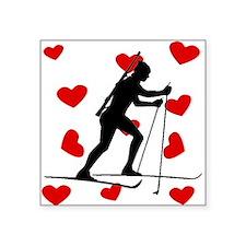 Biathlete Hearts Sticker