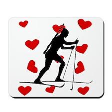 Biathlete Hearts Mousepad