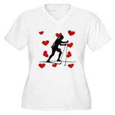 Biathlete Hearts Plus Size T-Shirt