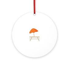 Beach Shack Ornament (Round)