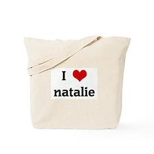 I Love natalie Tote Bag