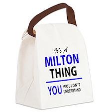 Cute Milton Canvas Lunch Bag