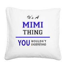 Cute Mimi Square Canvas Pillow