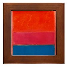 ROTHKO ORANGE BLUE 4 Framed Tile