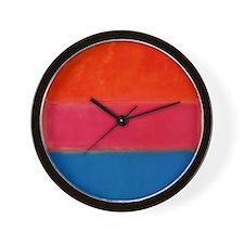 ROTHKO ORANGE BLUE 4 Wall Clock