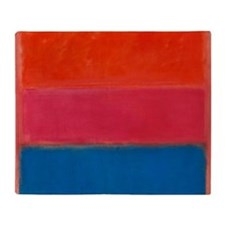 ROTHKO ORANGE BLUE 4 Throw Blanket