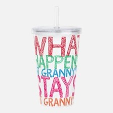 What Happens At Granny Acrylic Double-wall Tumbler