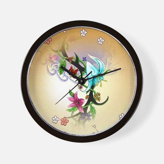 Tribal Garden Wall Clock