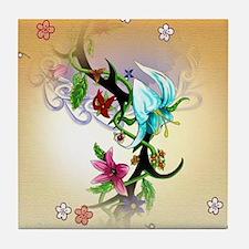 Tribal Garden Tile Coaster