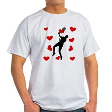Badminton Hearts T-Shirt