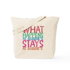 What Happens at Bubbie's Tote Bag