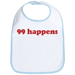 99 happens (red) Bib