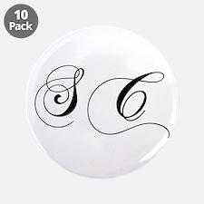 "SC-cho black 3.5"" Button (10 pack)"