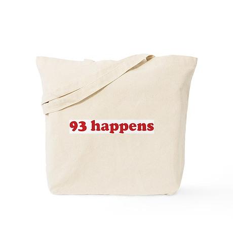 93 happens (red) Tote Bag