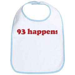 93 happens (red) Bib