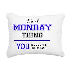 Cute Mondays Rectangular Canvas Pillow