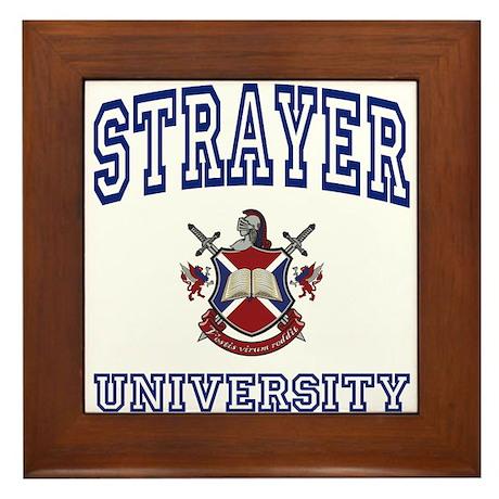 STRAYER University Framed Tile