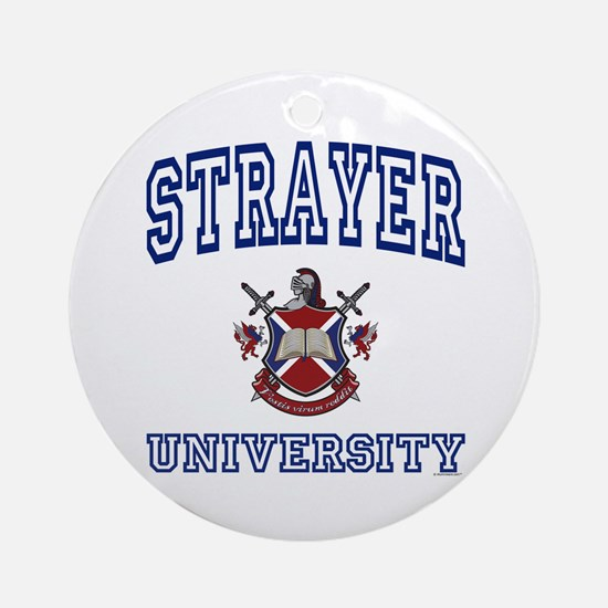 STRAYER University Ornament (Round)
