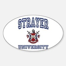 STRAYER University Oval Decal