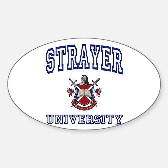 STRAYER University Oval Decal