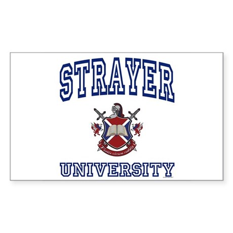 STRAYER University Rectangle Sticker