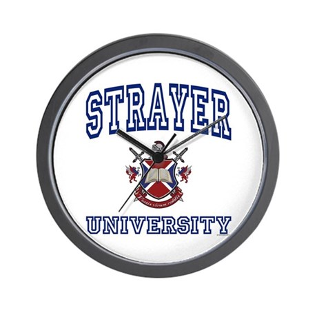 STRAYER University Wall Clock
