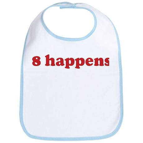 8 happens (red) Bib