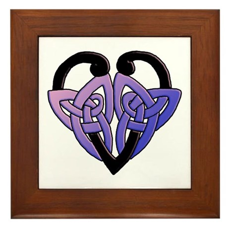 celtic heart 10 Framed Tile
