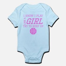 Basketball Like A Girl Body Suit