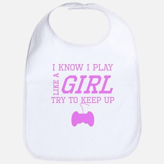 Video Games Like A Girl Bib
