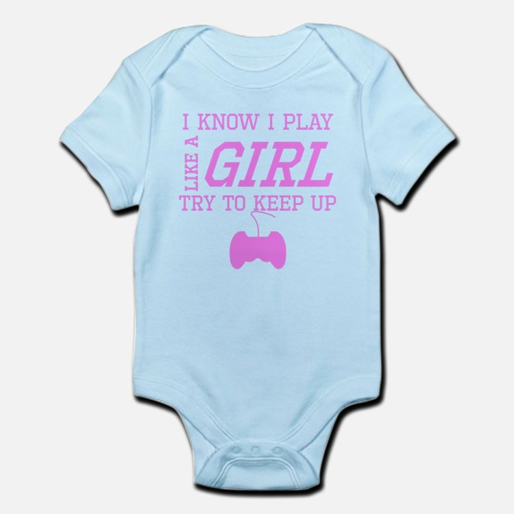Video Games Like A Girl Body Suit