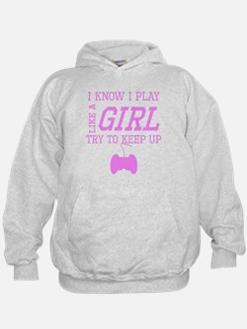 Video Games Like A Girl Hoodie