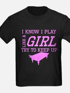 Billiards Like A Girl T-Shirt