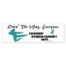 Kickin' Ovarian Cancer's Butt Bumper Bumper Sticker