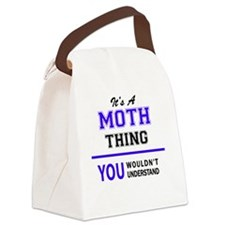 Cute Moths Canvas Lunch Bag