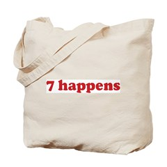 7 happens (red) Tote Bag