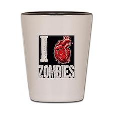 I Real Heart Zombies Shot Glass