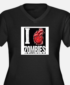 I Real Heart Zombies Plus Size T-Shirt