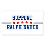 Support RALPH NADER Rectangle Sticker
