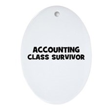 accounting Class Survivor Oval Ornament