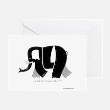 Ali Black Elephant Greeting Cards (Pk of 10)