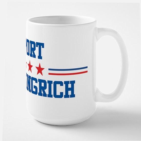 Support NEWT GINGRICH Large Mug
