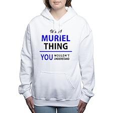 Funny Muriel Women's Hooded Sweatshirt