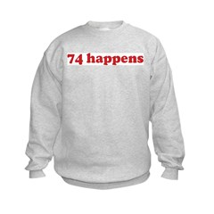 74 happens (red) Sweatshirt
