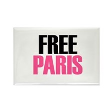 """Free Paris"" Rectangle Magnet"